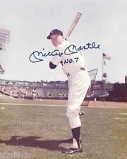 Mickey Mantle NY Yankees No. 7 Signed Reprint Yankees 8x10 Photo 005