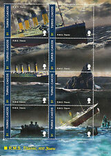 Turks & Caicos Island 2012 MNH RMS Titanic 100 Years 8v M/S Ships Boats Stamps