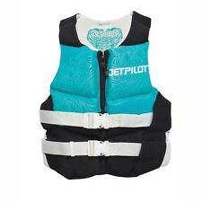 Jet Pilot Flight Neoprene USCG Approved  Women's Ladies Vest AQUA BLUE X-LARGE