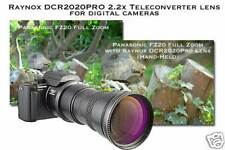 Raynox DCR-2025 Telephoto 2x Lens 62mm+43mm+52mm+55mm+58mm to HANDYCAM CAMCORDER