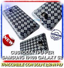Pellicola+Custodia Grid Bianca per Samsung i9100 galaxy s2 plus I9105