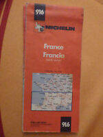 carte michelin rouge 916 france  1978