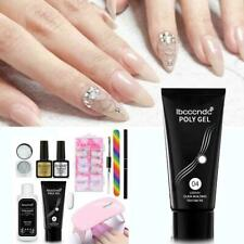Led Lamp Gel Nail Polish Quick Building Extensions Manicure Set Polygel Kit