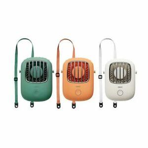 Mini Portable Neck Cooler Fan USB Rechargeable Hand-free Desktop Travel Cooling