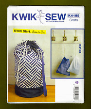 """""""Learn-to-Sew"""" Laundry Bag & Drawstring Bag~Easy To Sew~Kwik Sew Pattern 4185"""