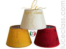paralume cappello tondo tronco di cono tessuto damascato damasco made in Italy