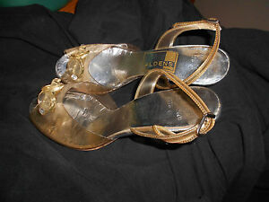 1961 Alden's Silver and rhinestone high heel shoes