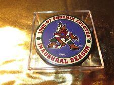 Phoenix Coyotes 1996 Inaugural Season Hockey Puck NEW