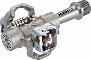 """Xpedo M-Force 8 Pedals - Dual Sided Clipless, Titanium , 9/16"""", Silver"""