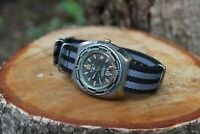 SWISS MADE vintage BASIS diver,  AMAZING oversized automobile moto racer dial
