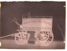 BIER BRAUEREI WICKÜLER KÜPPER KULMBACHER BRÄU Elberfeld Kutsche Glasnegativ 1900
