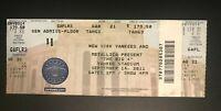 BIG FOUR TICKET STUB YANKEE STADIUM BRONX, NY 9/14/11 Metallica Slayer Megadeth
