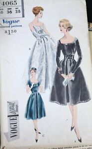 Vtg 1950s Vogue Special 4065 Pleated Evening Gown Party Dress SEWING PATTERN 16