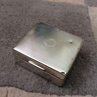Vintage Original Art Deco Solid Silver Cigarette Box. Adie Bros. 1939