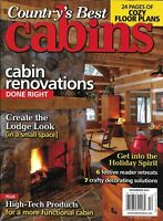 Country's Best Cabins Magazine Renovations Festive Reader Retreats Decorating