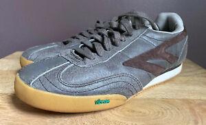 Hi-tec Ortholite Vibram Grey Leather Mens Lace Up Shoes Size 10