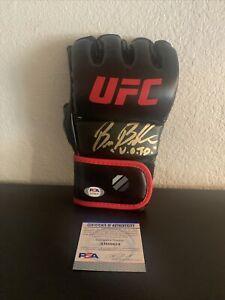 "Bruce Buffer Signed UFC Glove PSA/DNA Inscribed ""V.O.T.O."" Voice Of The Octagon"