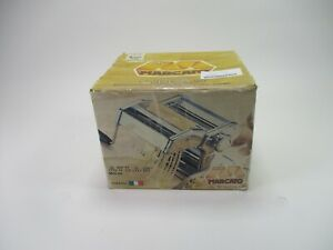 Marcato Atlas Pasta Maker Hand Crank Made in Italy Model 150 Stainless Steel