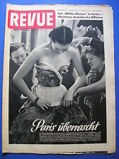 REVUE Nr.10/1953 *ZEITSCHRIFT*DEUTSCHE MILITÄRBERATER IN SYRIEN*PARIS MODE*