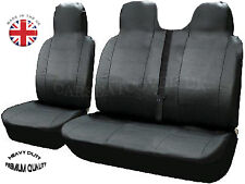 Renault Master (10 on) HEAVY Duty LEATHERETTE Van SEAT Covers - Single + Double