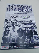 """Incubus Concert Poster Monuments & Melodies San Diego Cricket Wireless 11""""x17"""""""