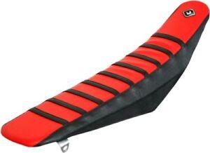 FLU Designs Pro Rib PRS kev Seat Cover Red For Honda CRF250R 04-09 015501