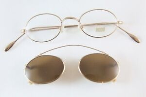 NEW GOLD PLATED MODO EYEGLASSES MADE IN ITALY SMALL!!