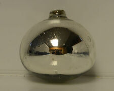 """Vintage kugel christmas tree ornament Thick Glass - appx 4"""" Silver Bubbles Glass"""