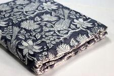 By Yard length  44' Fabric Indian Hand Block Print Fabric Peacock Print Fabric
