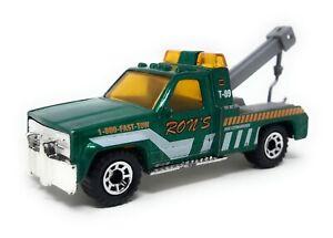 Matchbox GMC Wrecker Truck green RONS China Base Superfast MBX