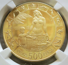 1971 GOLD COLOMBIA 500 PESO 6TH PAN-AMERICAN GAMES COIN NGC PROOF 68 ULTRA CAMEO