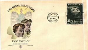 GP GOLDPATH: ARGENTINA COVER 1956 FIRST DAY COVER _CV680_P10