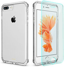 "GLAS 9H + Shockproof Case für iPhone 7 iPhone 8 4,7"" TPU Back Cover Tasche Hülle"