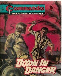 DIXON IN DANGER,COMMANDO WAR STORIES IN PICTURES,NO.794,WAR COMIC,1973