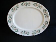 """Crown Staffordshire - White Christmas Rose F16218 - 13"""" x 10.75"""" Serving Platter"""
