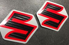 ADESIVI-SET 2 PEZZI PER SUZUKI GSXR GSX-R 600 750 1000 emblema CARBON-neonrot