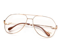 Vintage Hilton Exclusive 14 C2 Gold Unisex Eyeglasses Optical Frame Lunettes RX