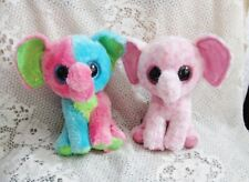 "Ty Beanie Boos - Two Elephants - Ellie - Multi-Colors - 6"""