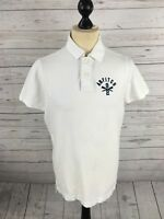ABERCROMBIE & FITCH Polo Shirt - Size Large - White - Great Condition
