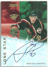Marian Gaborik 2001-02 Stadium Club Minnesota Wild Lone Star Hockey AUTO