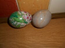 Two decorative Eggs - One Marble, one Ceramic