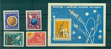 ESPACE - SPACE EXPLORATION ALBANIA 1962 set+block A