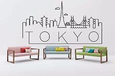Wall Vinyl Sticker Decal Skyline Horizon Panorama City Tokyo Japan World F1831