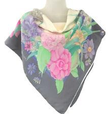 Leonard Paris Silk Scarf Beautiful Floral Print Vintage