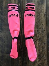 Mitre Girls Neon Pink Youth Soccer Shin Guards, Size Small