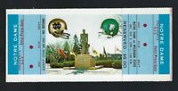 1970 NCAA NOTRE DAME IRISH @ MICHIGAN ST SPARTANS FULL UNUSED FOOTBALL TICKET