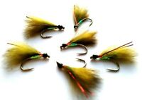 Olive Traffic Lights Cormorant Still Water Lake Lures Trout Fly Fishing Flies