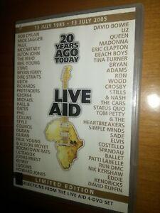 LIVE AID DVD - 20 YEARS AGO TODAY   - 1985-2005  1 DISCO EDIZIONE LIMITATA RARO