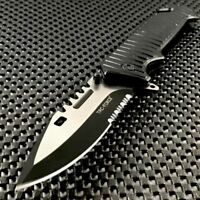 """9"""" TAC FORCE SPRING ASSISTED TACTICAL SAWBACK BOWIE Rescue Pocket Knife EDC"""