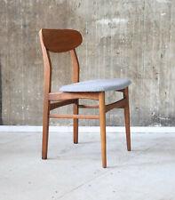 60er Teak Stuhl Neubezug Danish Mid-Century 60s Chair Vintage New Upholstery 50s